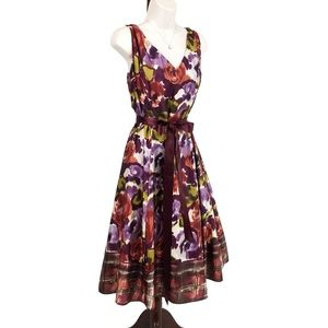 Adrianna Papell silk floral dress